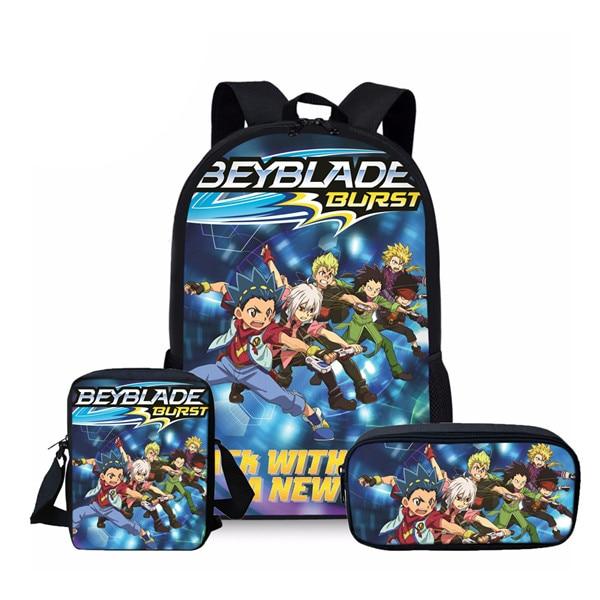 Schoolbag Backpack For Children Cartoon Beyblade Burst Printed Teenager Girls Boys School Bag Students Cute Book Bag