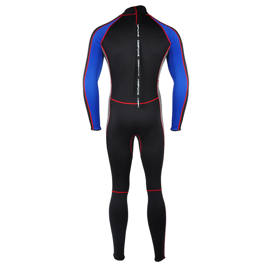 Bonverano Mens 2mm Neoprene Warm Wetsuit Zipper Blue Diving Suit