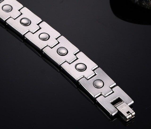 Купить модные простые мужские браслеты из нержавеющей стали магнитные