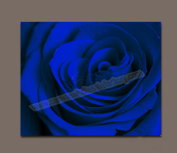 canvas prints decor picture of blue rose large canvas art cheap wall