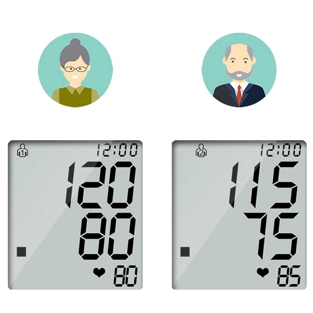 Elera cuidados de saúde em casa monitor de pressão arterial braço superior medidor de pressão arterial esfigmomanômetro tonômetro para medida tensiometro