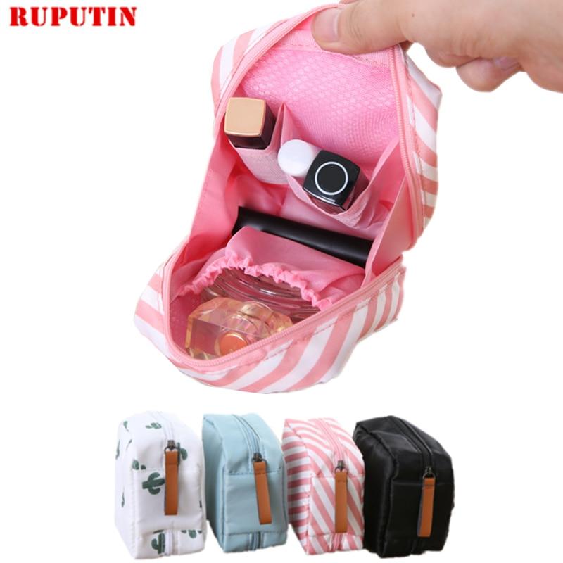 RUPUTIN 1pc Cute Sanitary Napkins Package Organizer Hygiene Cotton Bag Striped font b Mini b font