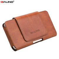 For IPhone 7 Plus Pouches Bags QIALINO Genuine Cowhide Leather Pouch Holster Case For Huawei Mate
