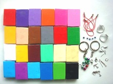 Christmas gift 24PC modeling clay bake polymer clay soft + Free clay accessory