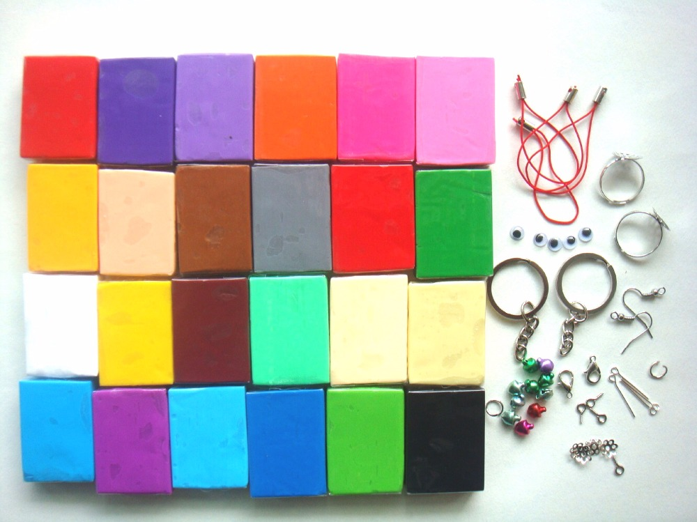Christmas gift 24PC modeling clay bake polymer clay soft Free clay accessory in Modeling Clay from Toys Hobbies