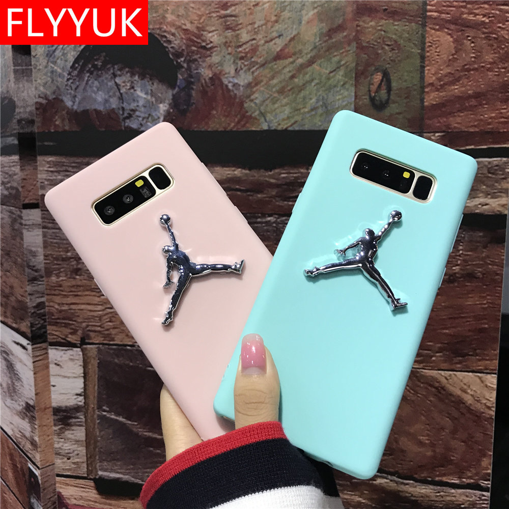 paquete Punto de partida Cliente  Metal 3D Michael Super NBA Jordan for Samsung Galaxy S8/s9 Plus Case Candy  Solid Color Soft Case for Samsung Galaxy Note 8 Cover|Fitted Cases| -  AliExpress