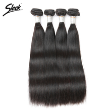 Sleek Malaysian Straight Hair Weave 100% Remy Human Hair Extension 10-30 Inch 1 Bundle Natural Color
