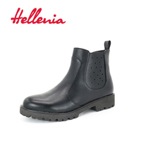 Hellenia Woman Fashion Winter Fall Ankle Boots Casual Warm Lady Elegant snow Shoes Rubber sole Comfortable Fleeces Lining