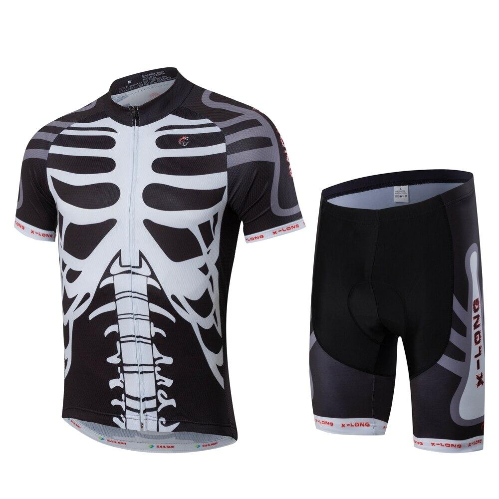 540f2f75c3 Caliente X-LONG parada hombres blanco negro equipo de ciclismo Jersey  Shorts conjuntos Pro Bike Short Jersey ropa bicicleta verano Bike camisas