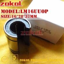 ZOKOL LM16 UU OP rodamiento LM16UUOP rodamiento de movimiento lineal de tipo abierto 16*28*37mm
