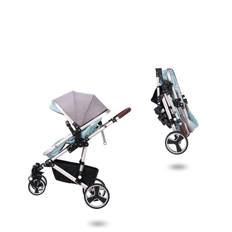 kinderwagen draagbare opvouwbare tweewegs schokdempers kinderwagen - Activiteit en uitrusting voor kinderen - Foto 4