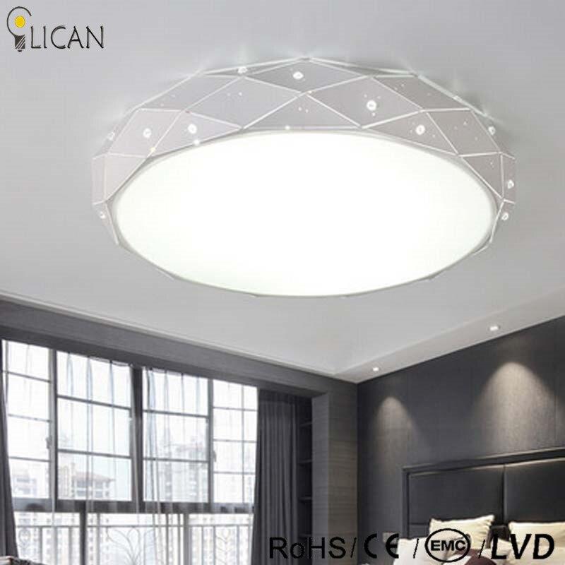 Lican Blanc Led Ronde Lustre De Plafond Pour Salon Chambre Maison