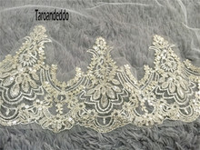 Reals 3M Lace Appliques Edge Cathedral Length Bridal Veil Long Wedding Veil Chic Cheap Bridal Veil Wedding Accessories