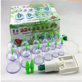 12 cans of cupping therapy Magnetic therapy bubble extraction cup ping jar type manually T398 Cupping apparatus