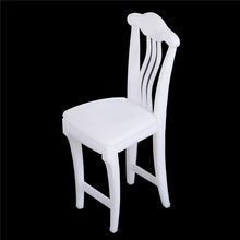 1pcs Children High Chair Toy Table Chair For Doll's House Accessories Dollhouse Furniture Play House Toys Color Randomly(China)