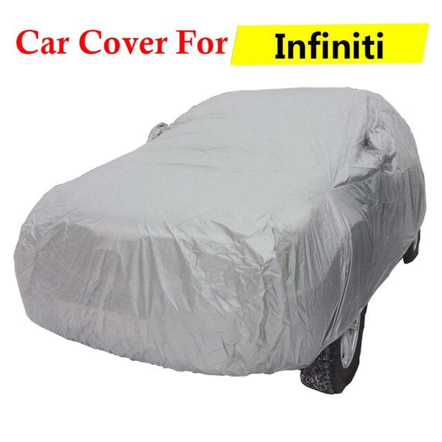 Cubierta del coche Auto Anti-Ultravioleta Parasol Lluvia Nieve Cubierta de Polvo Protector de Scratch prueba Para JX Infiniti JX35 Q Q45 Q50 Q60 Q60S Q70L Q50L