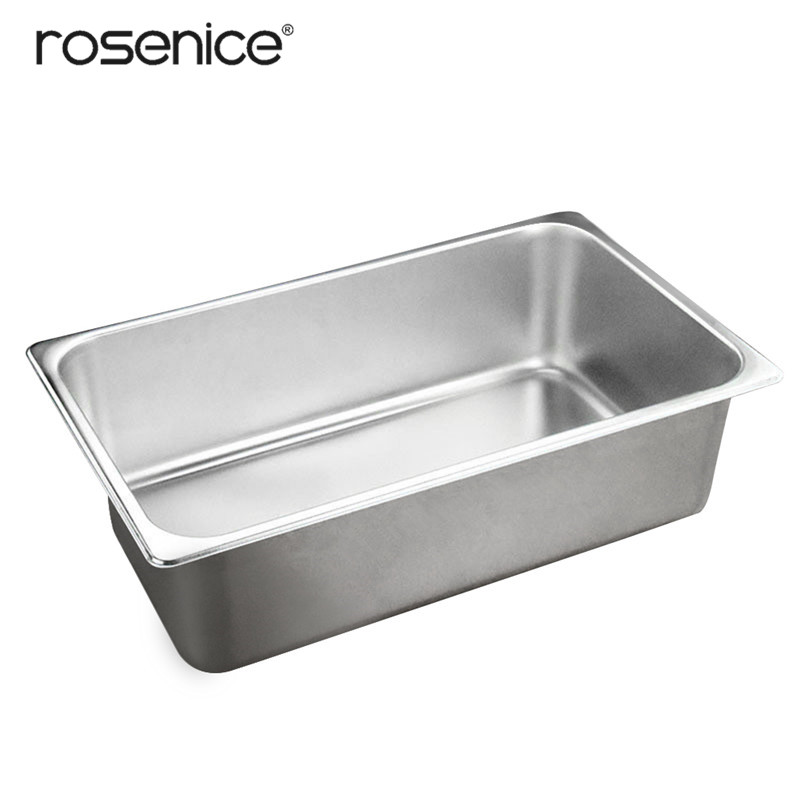Stainless Steel Food Buffet Basin Pates Pots Tray Dishes Butter Holder Thickened Square Container for Restaurant Tableware