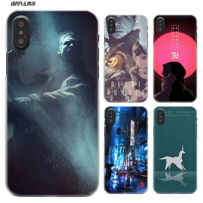 Blade Runner Case for iPhone XS Max XR X or 10 7 8 6 6S Plus 5S SE 5 4S 4 5C Hard Plastic Clear Phone Cover Coque Fundas Capa