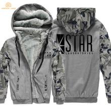 9add112210e Superman The Flash STAR S.T.A.R. Labs Fashion Zipper Hoodies Men 2019 Hot  Winter Warm Thicken Sweatshirts