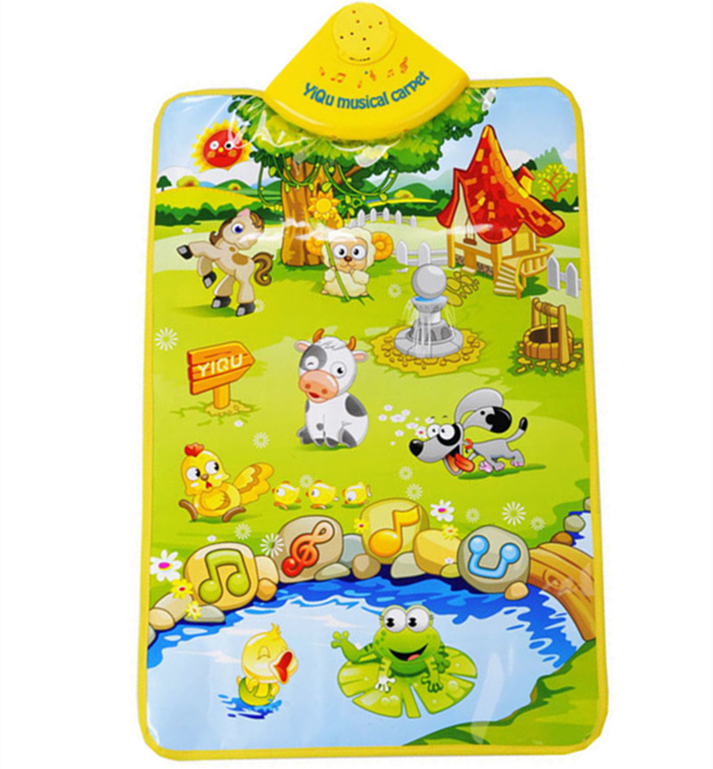 Baby Toys Music Sound Funny Farm Animal Kids Baby Children Play Mat Musical Carpet Children's Playmate Intelligece Toy 40*60cm