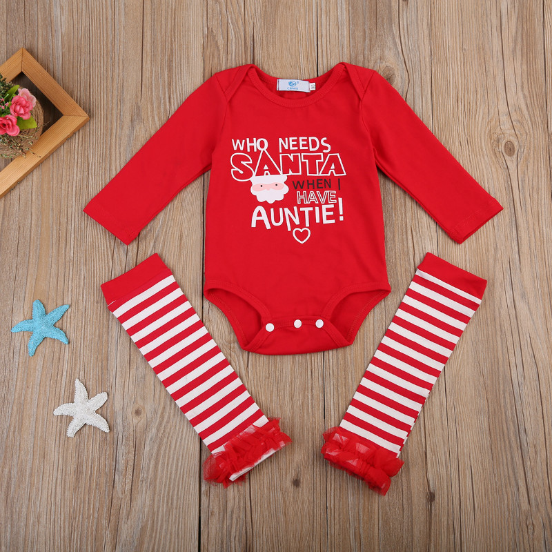 e41945fa5ff Pudcoco 2017 Infant Baby Girl Boy Summer Suit Novelty Costume Christmas  Clothing Set Rompers Birthday Party Romper+Stockings Set-in Clothing Sets  from ...