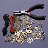Diy Handmade Material Package For Jewelry Making Gear Charms Open Rings Rope Brooch Pliers Jewelry Findings