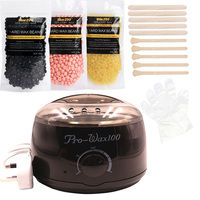 Temperature Adjustable Wax Heater Hair Removal Cream Pearl Wax Machine Set US And EU Plug Warmer Heater Professional Epilation