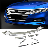 For Honda Accord 2018 Accessories Grille Front Racing Grille Cover Trim Exterior Decoration Chromium Styling 7PCS