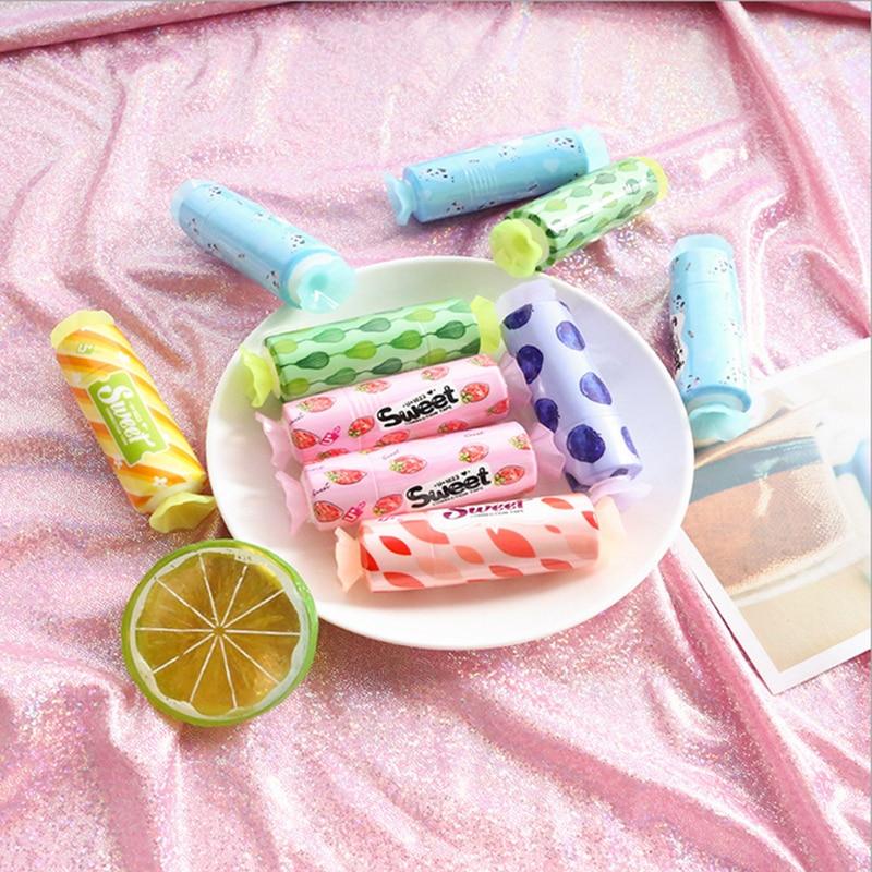 Купить с кэшбэком 1 x Creative mini candy correction tape Kawaii school supplies office supplies jade shuttle fish students stationery