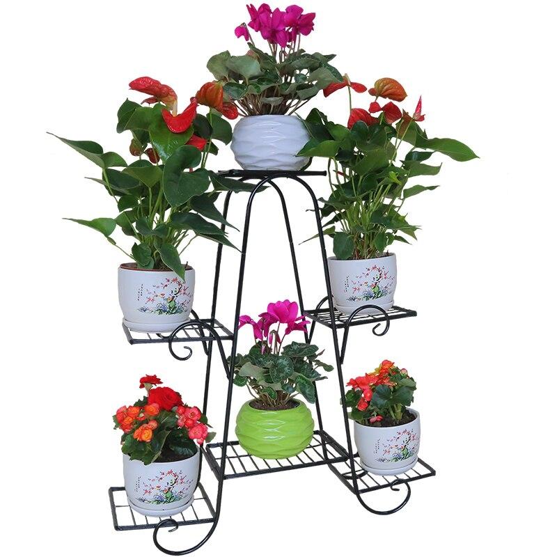 Support Plante Dekoru Decorative Metal Garten Dekoration Balkon Dekorasyon Balcon Balcony Shelf Plant Stand Flower Iron