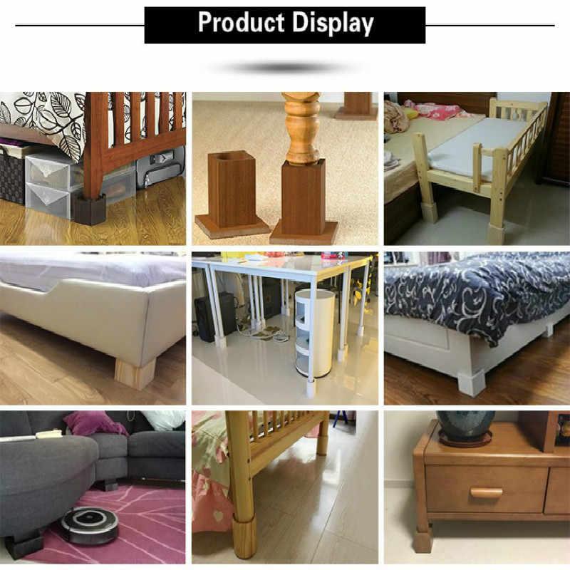 4 шт./партия мебель увеличивающая твердый деревянный приставной стол Шкаф стол кровать стул коврик для ног мебель поддержка мебели для ног части сосны