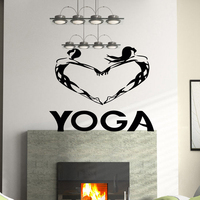 Heart Buddha Quotes Namaste Wall Decals Yoga Mandala Wall Stickers Living Rooms DIY Home Decor Yoga Decoration
