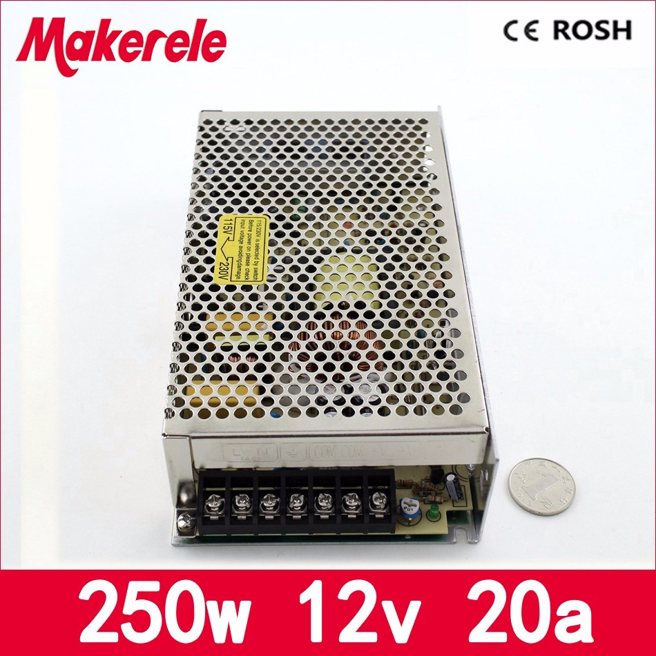 MS-250-12 250watt smps Mini size single output new type 110V 220vAC to dc12V 20A 250w switching power supply new model