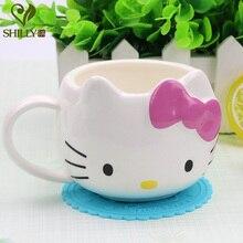 300 ml Hello Cartoon Kaffeemilch becher für childen Tasse Kreative Niedlichen Keramik Porzellan Kaffeetasse für Freund Geschenk