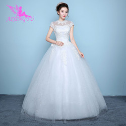 AIJINGYU 2018 elegant free shipping new hot selling cheap ball gown lace up back formal bride dresses wedding dress WK136 1