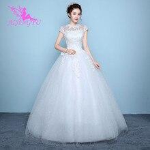 AIJINGYU 2021 우아한 새로운 뜨거운 판매 싼 볼 가운 레이스 공식적인 신부 드레스 웨딩 드레스 WK136