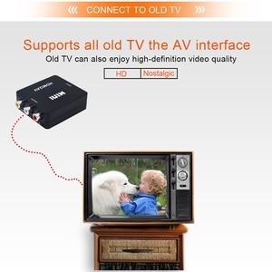 Image 4 - TISHRIC Mini HDMI To RCA/AV CVBS Male Audio Video Converter Adapter Box HDMI2AV NTSC PAL Composite Cable Scaler 1080p ForTV