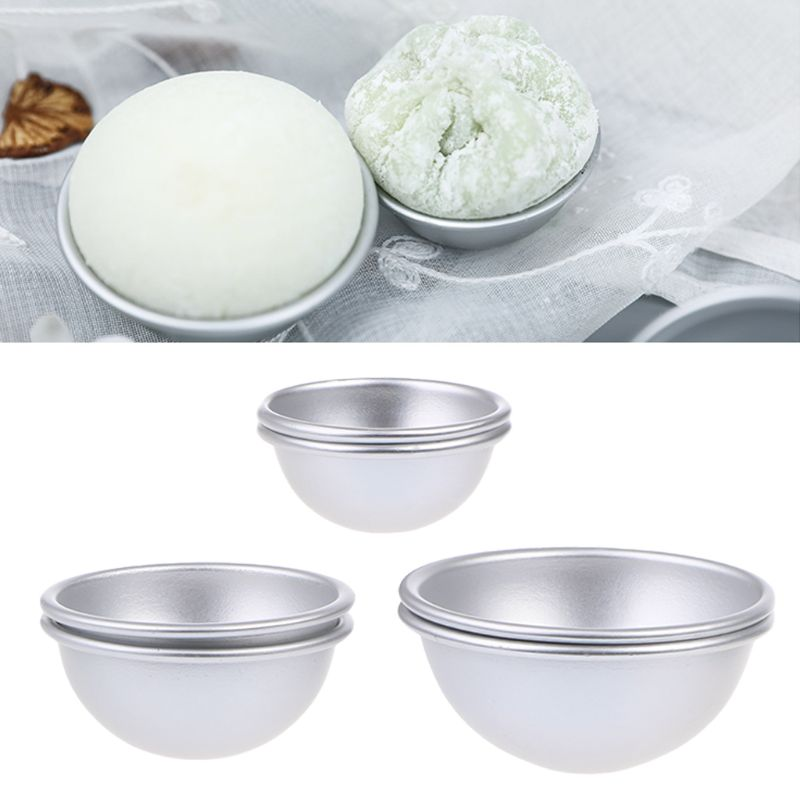 6 PCS 3 Sizes DIY Metal Bath Bomb Mold 2 Set For Crafting Your Own Fizzles Metal Aluminum Alloy Bathing Tool Accessories