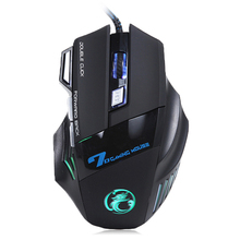 Profesional Wired Gaming Mouse 3200 DPI 7 Botones LED USB Óptico Ratones Ratón Para Portátiles Desktops Ordenador Raton X7