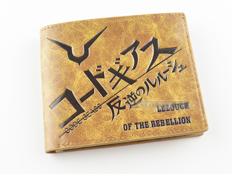Anime Code Geass Lelouch of the Rebellion PU short wallet/purse thin type khaki
