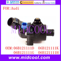 New Auto Coolant Thermostat Housing use OE NO. 06B121111D , 06B121111K , 06B121111G , 06B121111H for Audi A4 A6
