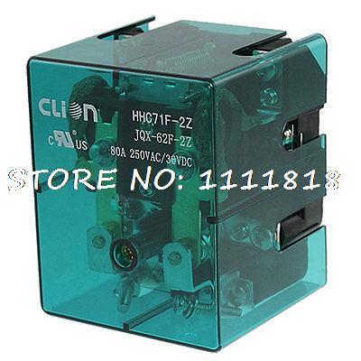 JQX-62F-2Z DPDT High Power Relay 220V AC Coil 80A 250V AC 30V DC  цена и фото