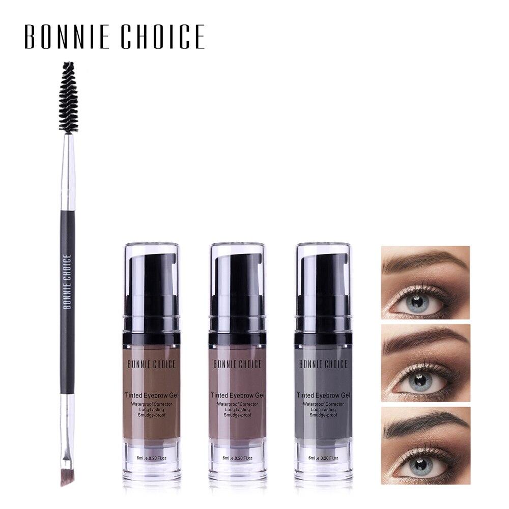 BONNIE CHOICE Waterproof Eyebrow Gel Tint Makeup Enhancer Brush Kit Eye Brow Gel Cream Make Up Set Tool Cosmetic