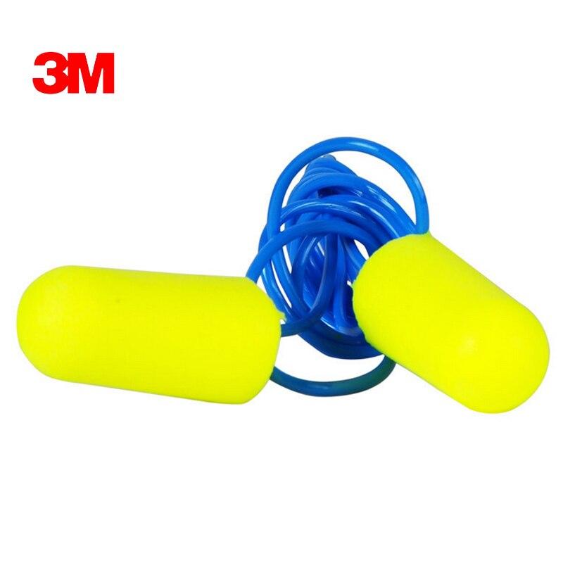 5pairs Authentic 3M 311-1250 PU Foam Soft corded Ear Plugs Anti-noise sleeping Reduction Norope Earplugs Protective earmuffs