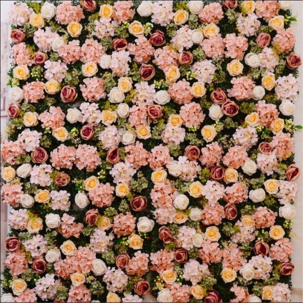 10pcs/lot Artificial flower wall wedding background 40*60 cm lawn/pillar flower road lead home market decoration 11 colors