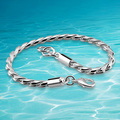 Men's 925 sterling silver link chain bracelet fashion men bracelet jewelry.4 mm snake chain of bone