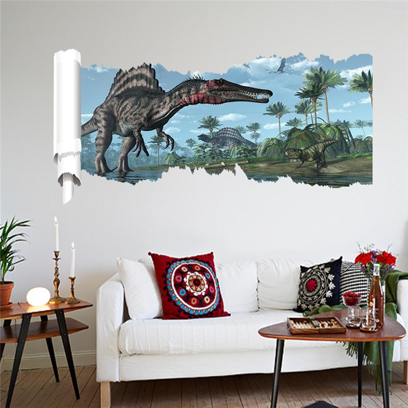 Aliexpresscom  Buy D Dinosaurs Wall Stickers Home Decoration - 3d dinosaur wall decals