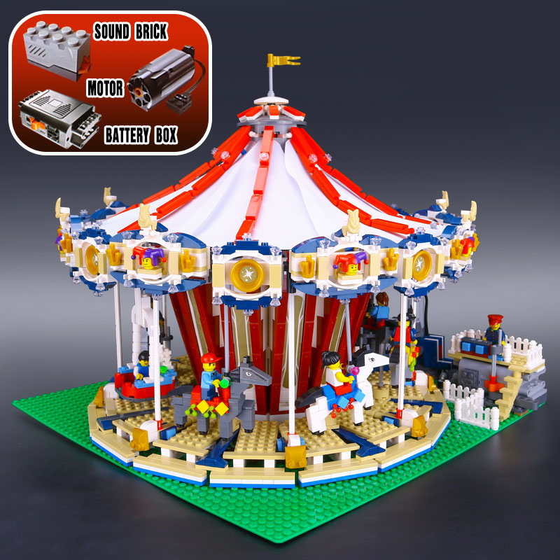 2017 New 15013 3263Pcs City Creator Expert Grand Carousel Model Building Kits Blocks Brick Toy Compatible With 10196 lepin 15013 city sreet carousel model building kits blocks toy compatible 10196 with funny children educational lovely gift toys