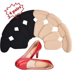 Soumit 4 Paar Weiche T-Form Hohe Ferse Griffe Liner Arch Support Orthesen Schuhe Einsatz Einlegesohlen Frauen Fuß Schutz kissen Pad