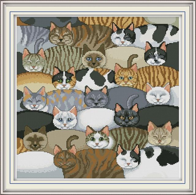 Colourful Cats Cross Stitch